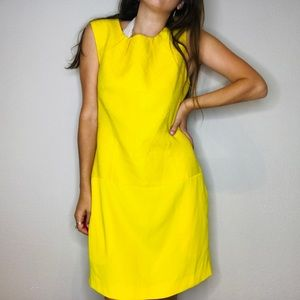Calvin Klein lemon yellow business shift dress